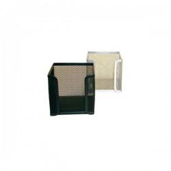 Blok kocka žica 9,5x9,5x9,5cm srebrna