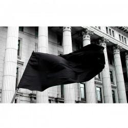 Zastava crna 200x100cm poliester