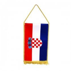 Stolna zastavica sa resicama 23x12cm