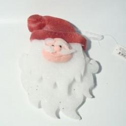 Božićna dekoracija glava od djeda božićnjaka 45cm
