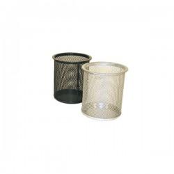 Čaša za olovke metalna žica okrugla fi-9xH-9,7cm srebrna