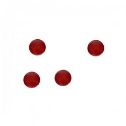 Magneti za bijelu ploču CRVENA, 50 kom, promjer 3 cm