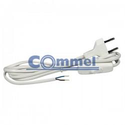 Priključni kabel za rasvjetna tijela sa sklopkom 2,5A 3m crni