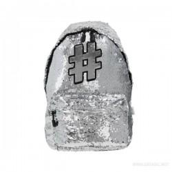 Školski ruksak - Hashtag - Silver