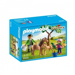PLAYMOBIL Country - Vet with Pony and Foal Toy