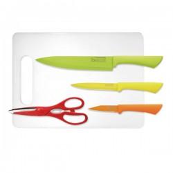 Solingen set rostfrei noževa, kuhinjske škare i daska
