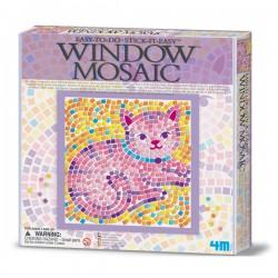 Set za slaganje mozaika za prozor, mačka