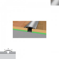 Aluminijska lajsna prijelazna 90cmx28mm srebrna samoljepljiva