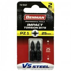 BENMAN - Bit - PZ 1 - 25 mm