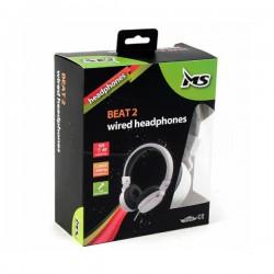 MS - Beat 2 - Bijele slušalice sa mikrofonom