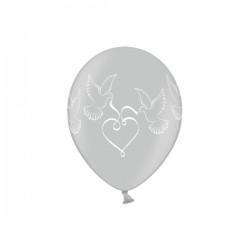Baloni - Srebrni sa bijelim otiskom - Za vjenčanje