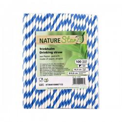 Nature Star - Papirnate slamke - Plave sa bijelim prugama