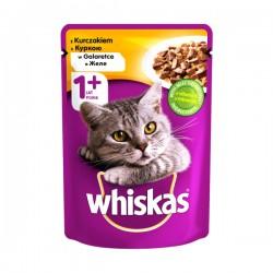 Whiskas - 1 + Vrećica - Piletina - 100 g