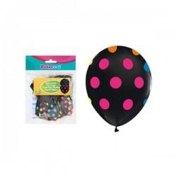 Baloni - Crni s šarenim točkama