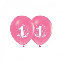Baloni - 1. rođendan / Br. 1 - Rozi