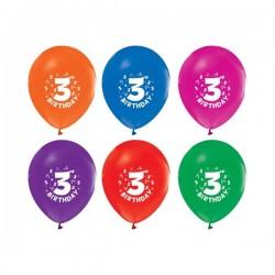 Baloni - 3. rođendan / Br. 3 - Šareni