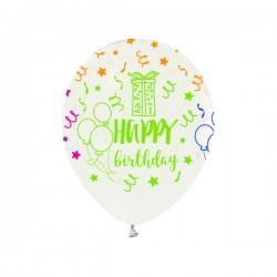 """Baloni - Prozirni s flourescentnim natpisom """"Happy Birthday"""""""