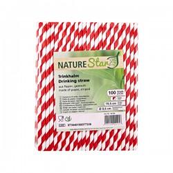 Nature Star - Papirnate slamke - Crvene sa bijelim prugama