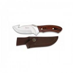 ALBAINOX - Lovački nož - Mahagonij + Kožna futrola