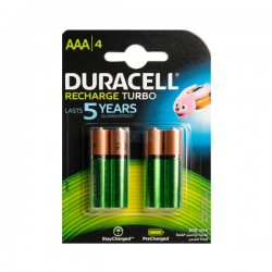 Duracell - Recharge Turbo - HR03 / DX2400 - AAA 4 - Baterije