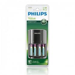 Phillips -  SCB1450NB/12 - Punjač za baterije - 4x AAA