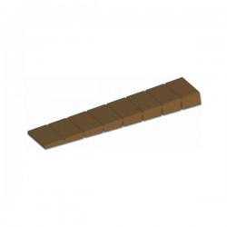 103324010 Klin / Kajla za namještaj - 100 x 20 mm - Smeđa plastika