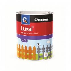 LUXAL - 3u1 - Lak boja za metal i drvo - Tamno siva - 750 ml