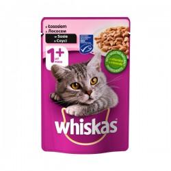 Whiskas - 1 + Vrećica - Losos - 100 g