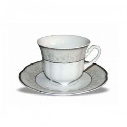Bolero - Porculanske šalice za kavu s tanjurićima - 6/1