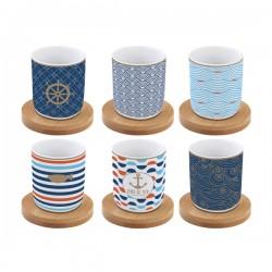 Bord de Mer - Set porculanskih šalica za kavu