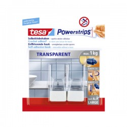 TESA - Powerstrips - Set pravokutnih kukica - Max. 1 kg
