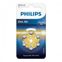 Phillips - Zinc Air - ZA10 x6 - 1.4V