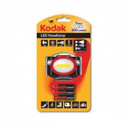 Kodak - LED Headlamp - 5 Watt - 3 lm - 3 funkcije