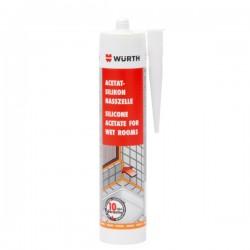 Würth - Acetat Silikon - Za vlažne prostorije - Bijeli