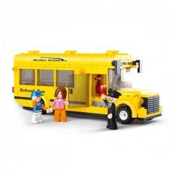 SLUBAN - Town - School Bus - Kocke za slaganje