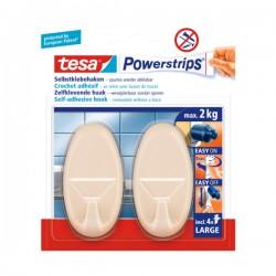 TESA - Powerstrips - Set ovalnih kukica - Max. 2 kg