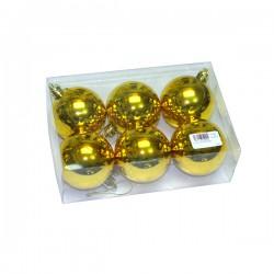 Kuglice za bor zlatne 6cm 6kom