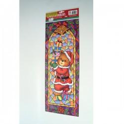 Božićna dekoracija za staklo naljepnice na arku 21x60cm