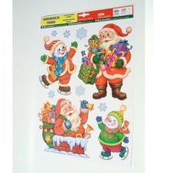 Božićna dekoracija za staklo naljepnice na arku 30x42cm