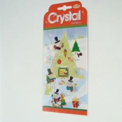 Božićna dekoracija za staklo naljepnice na arku 11x16cm