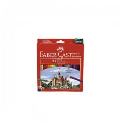 Boje drvene 24boje+šiljilo Faber Castell 120124 blister