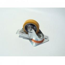 KOTAČ STROJNI OKRETNI (poliuretan) 80mm s kočnicom, do 200kg nosivosti