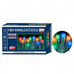 LED Žaruljice za bor s funkcijama - 180/1 - Šarene - Unutarnje