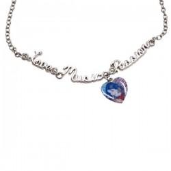 Violetta metalna ogrlica sa srcem