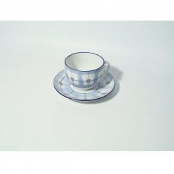Keramička šalica za čaj 9cm i tanjurić