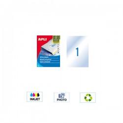 APLI - Naljepnice - 210 x 297 mm - 1 kom - 10 listova - Prozirne