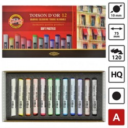 Koh-I-Noor Toison D'or extra mekane (suhe) pastele, set 12 komada