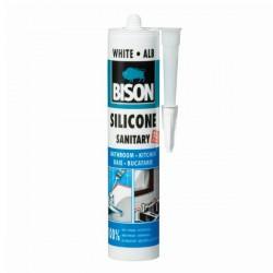 BISON - Sanitary - Bijeli silikon za sanitarije - 280 ml