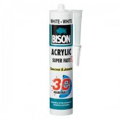 BISON - Super Fast - Bijelo akrilno brtvilo - 310 ml