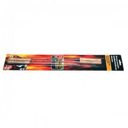 Štapići za roštilj s drvenom drškom - 38,5 cm - 4 kom